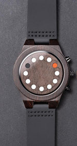 Wooden Luminous 12 Holes Timer  Watch