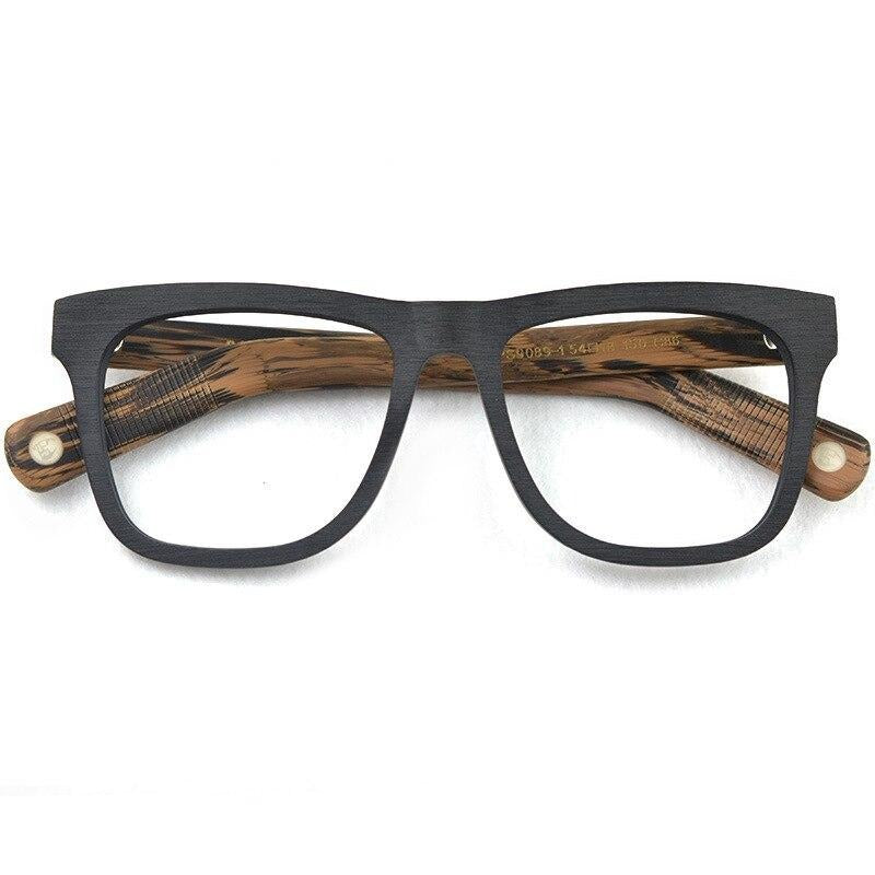 Posesion Eyeglasses frames Men Vintage Myopia Frame Retro Eyewear Glasses Acetate Wood Women Oversized Spectacles Frame