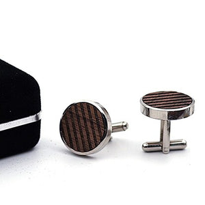 wooden cufflinks tie clip set Men Jewelry