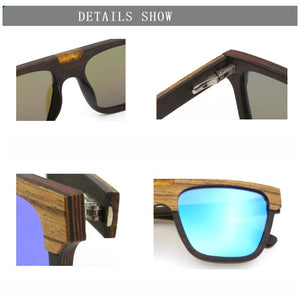 zebra wood sunglass