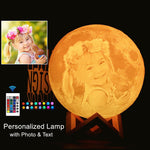 Photo/Text  Personalized Moon Lamp