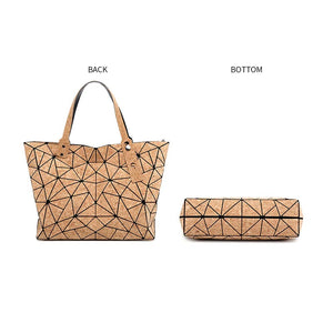Geometric Cork Bags-Carved Nature