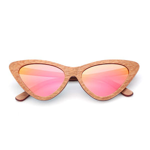 Cat Eye Ladies Wooden Shade