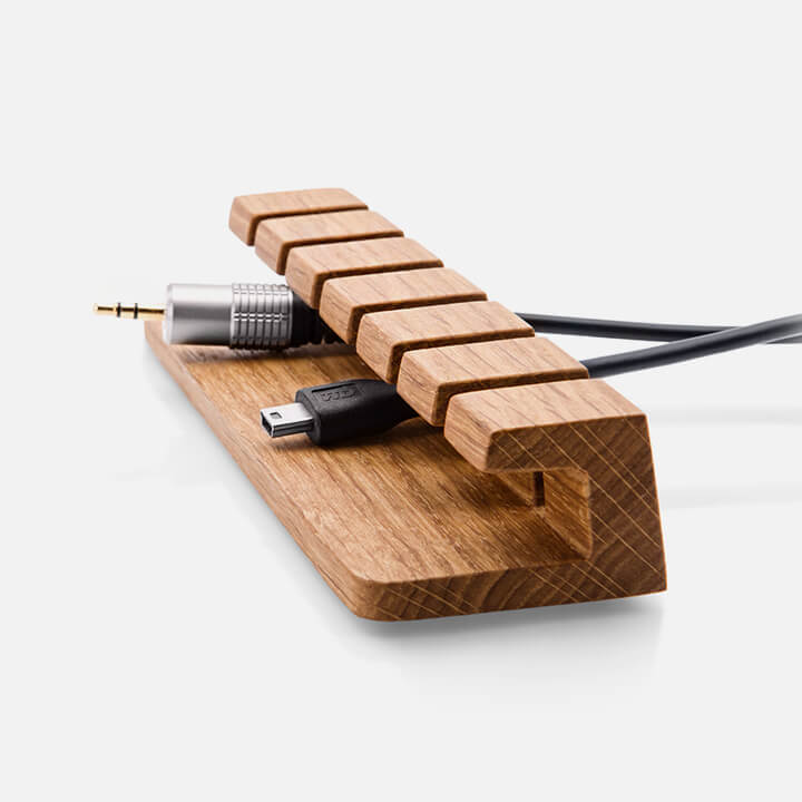 Oak Wood Cable Organizer