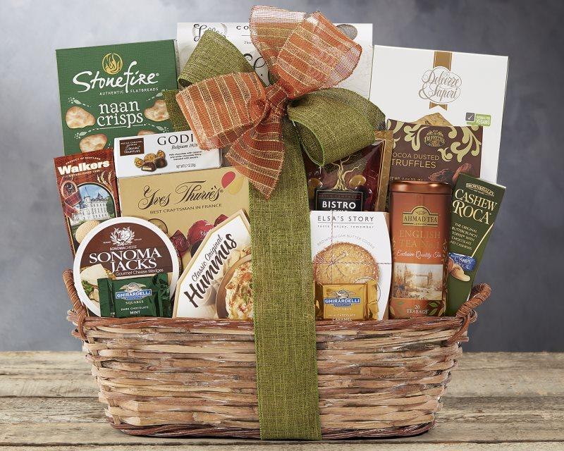 The Grand Gourmet Gift Basket - Carved Nature