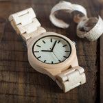 White Maple Wooden Watch on table