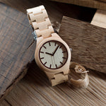 White Maple Wooden Watch real look
