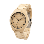 White Maple Wooden Watch front look