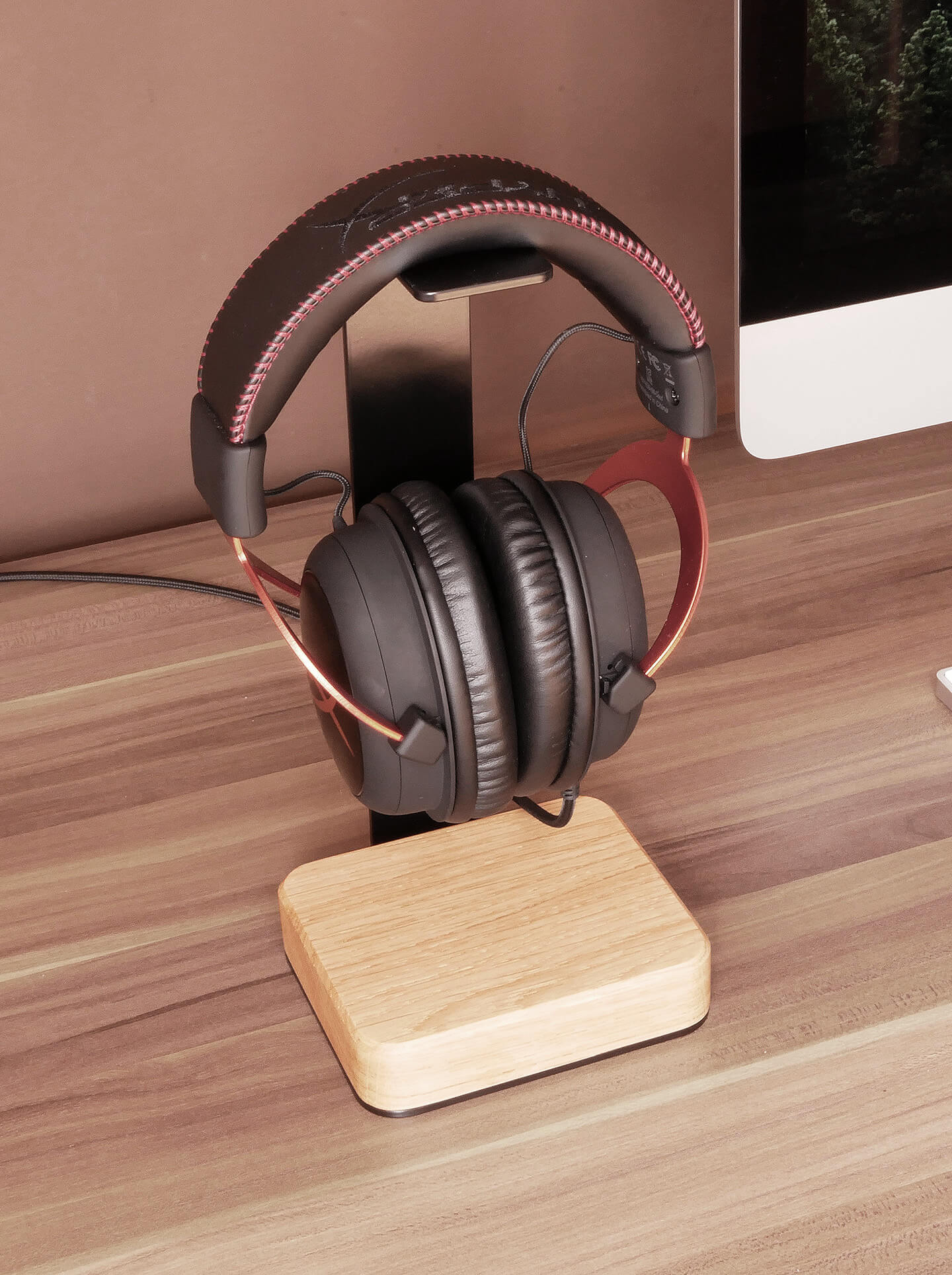 Wood & Steel Headphone Stand