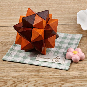 Wooden Luban Lock Ball IQ Puzzle Toy