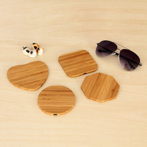 shapes Bamboo Wooden Wireless Charging Pad