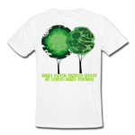 Time Spent Among Trees Organic T-Shirt - white