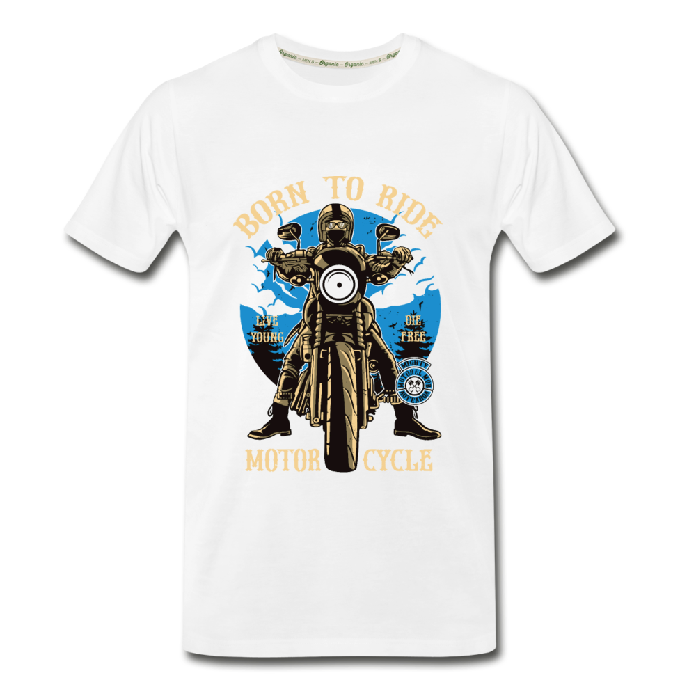 Born to Ride Organic T-Shirt - white