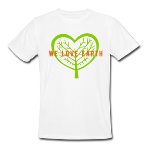 We Love Earth Organic T-Shirt - white