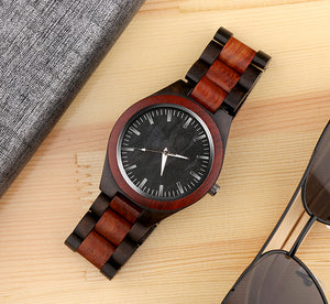 Fashionable Hand Made Wooden Timepiece