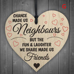 Hand Carved Wooden LOVE Chip neighbors