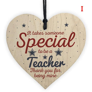 Hand Carved Wooden LOVE teacher Chip