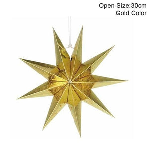 gold star paper ornament