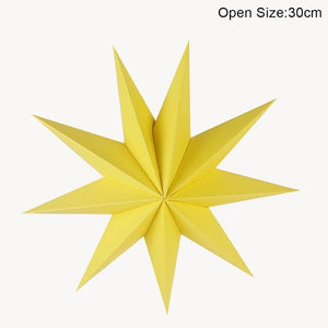 yellow star paper ornament