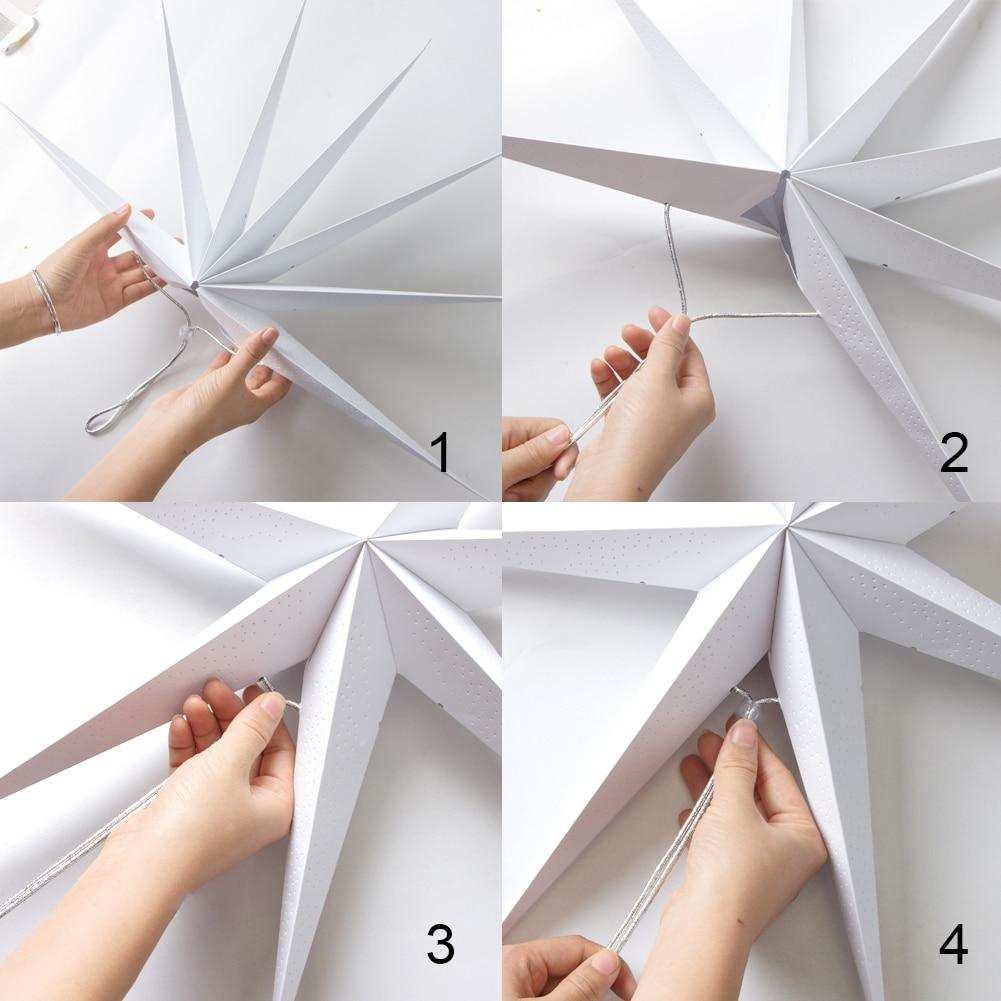 how to make star paper ornament