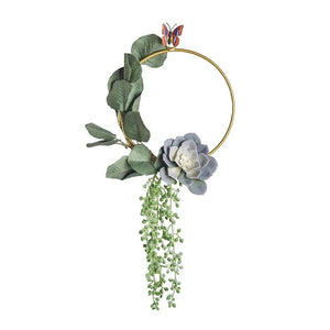 Nordic Style Wrought Iron Decor & Artificial Flower - Carved Nature