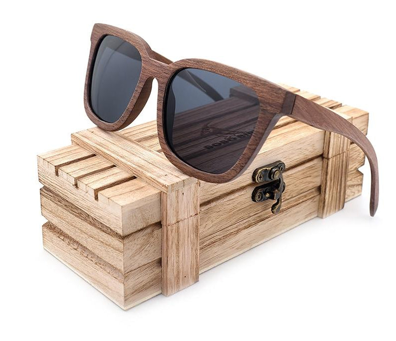 Classic Black Walnut wooden Sunglasses