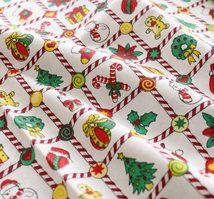 25*25cm/Pcs  Christmas Printed Cotton fabric - Carved Nature