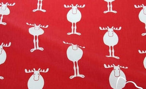 Printed Christmas Twill Cotton  Fabric - Carved Nature