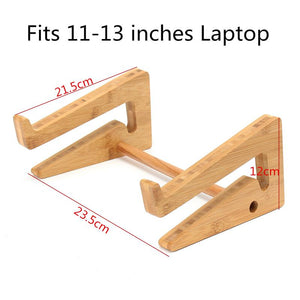 Wooden Desk Laptop Stand