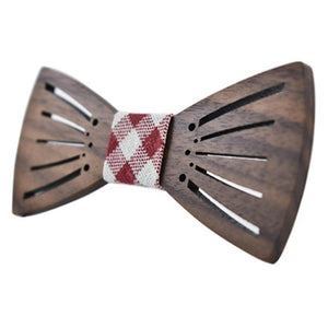 wooden bow tie for men and women, fashion , wooden gift for men and women by carved nature   red