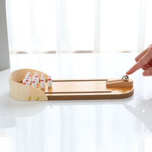 Mini Wooden Bowling Game