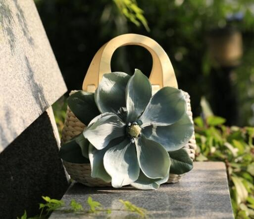 Handmade Bolsa Flower Ladies Hand Bag
