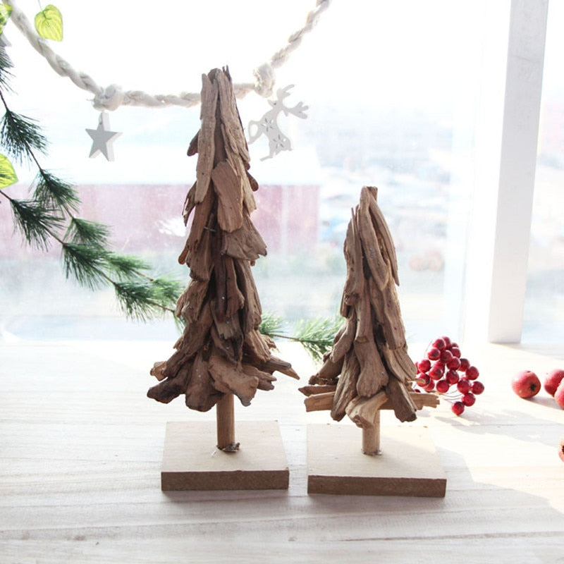 Handmade Wooden Christmas Trees