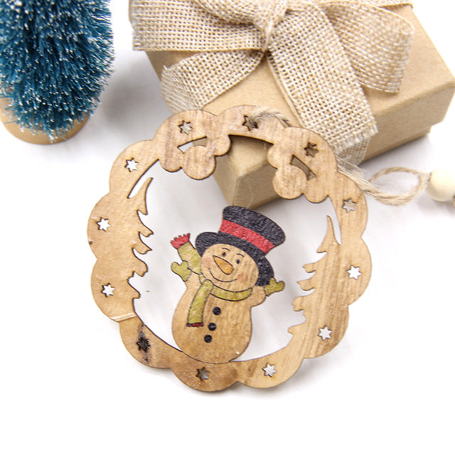 Wooden Pendants Christmas Ornaments