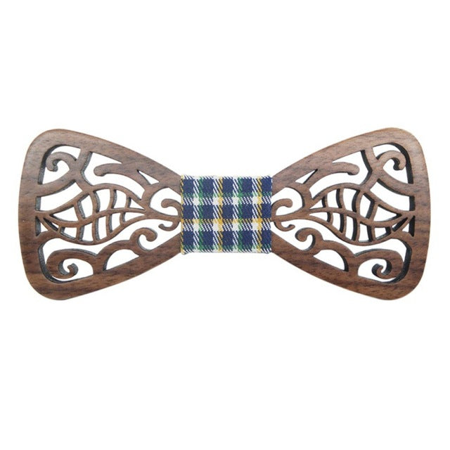 Butterfly Shape Carved Hollow Bow Tie