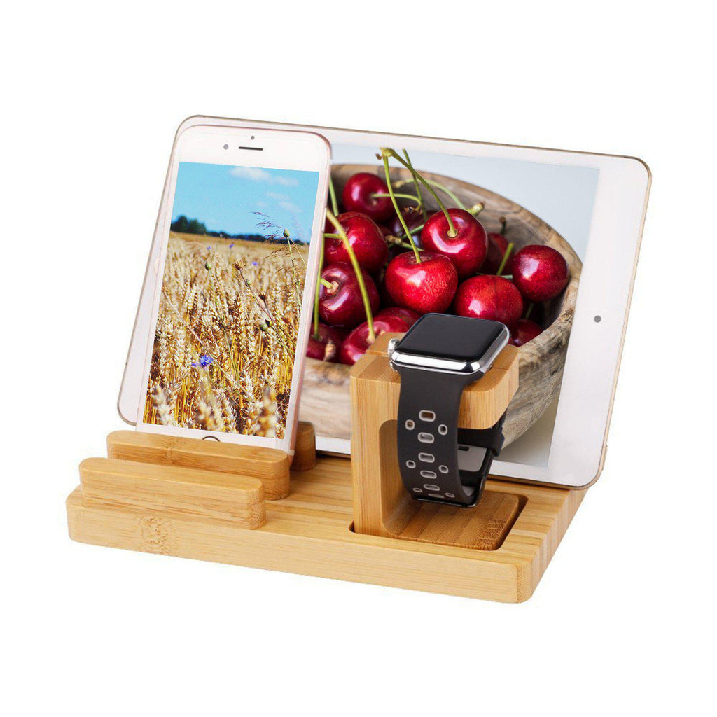Bamboo Docking Station With 4 USB Ports by carved nature