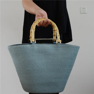 Handmade Grass Handbags blue by craved nature