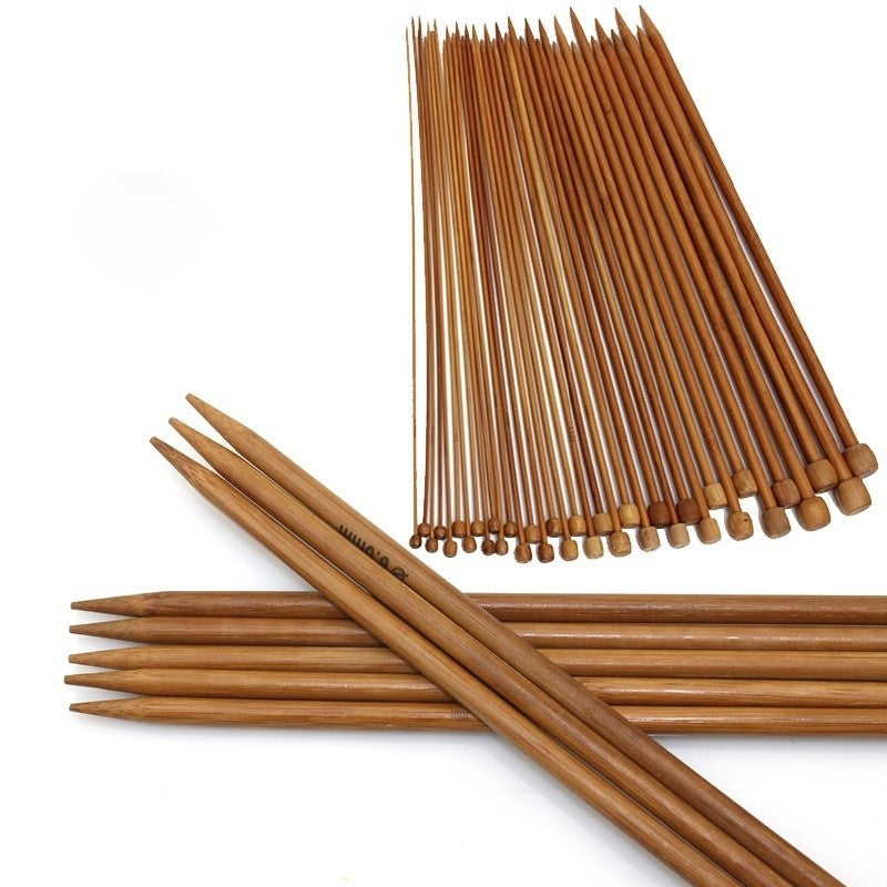 Carbonized Bamboo Crochet Knitting Needles  36Pcs