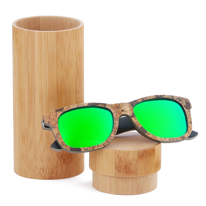 Unisex Cork Sunglasses Green