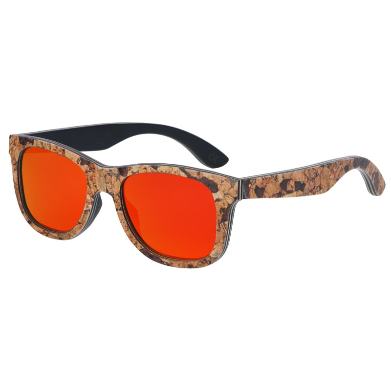 Unisex Cork Sunglasses orange