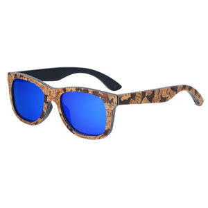 Unisex Cork Sunglasses blue