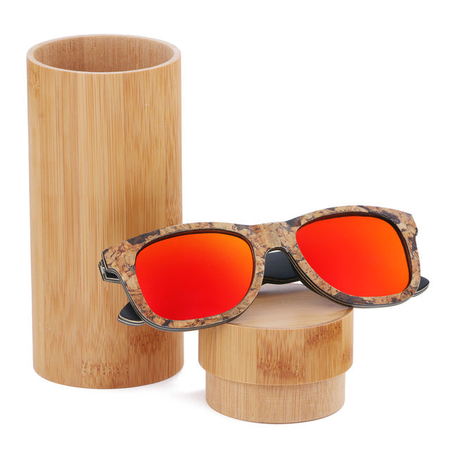 Unisex Cork Sunglasses red