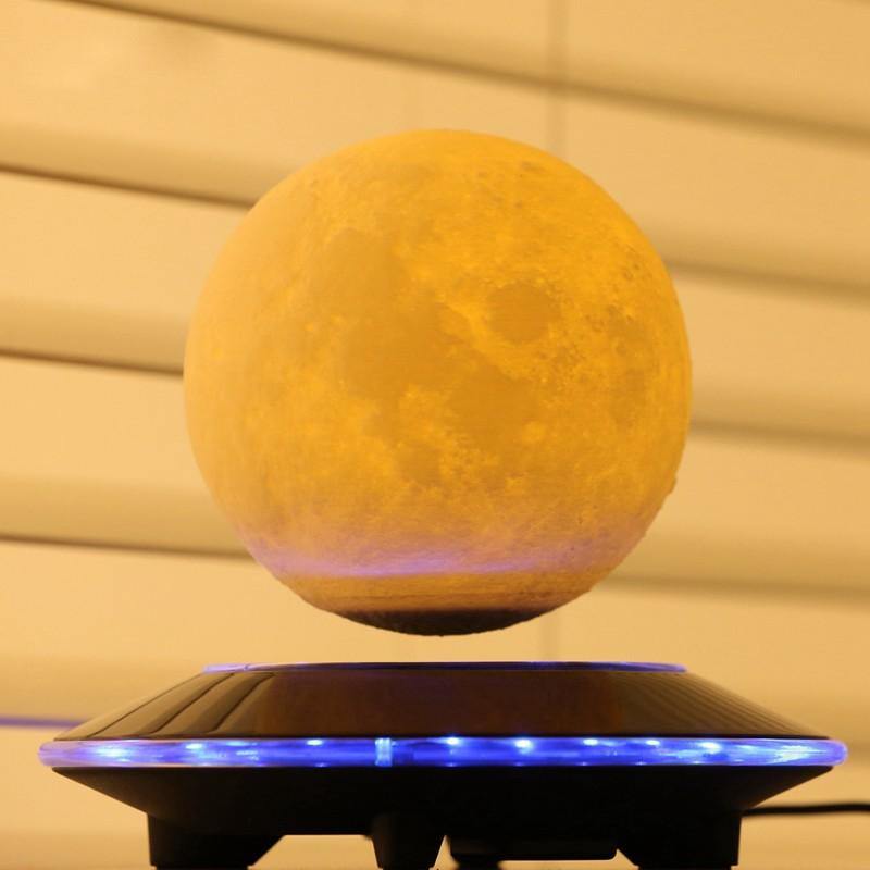 3D Magnetic Floating Moon Lamp wood gifts for men and women