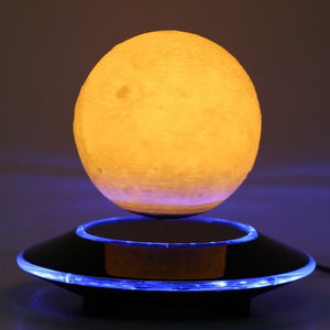 3D Magnetic Floating Moon Lamp by carved nature men and women wooden gift s