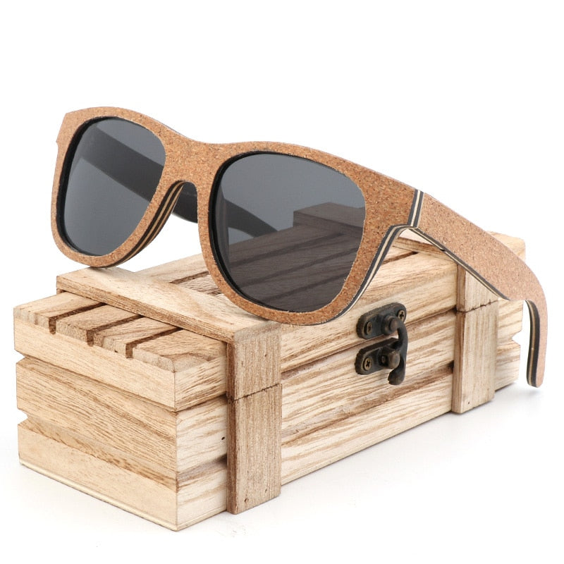 Unique Cork Wooden Polarized Sunglasses