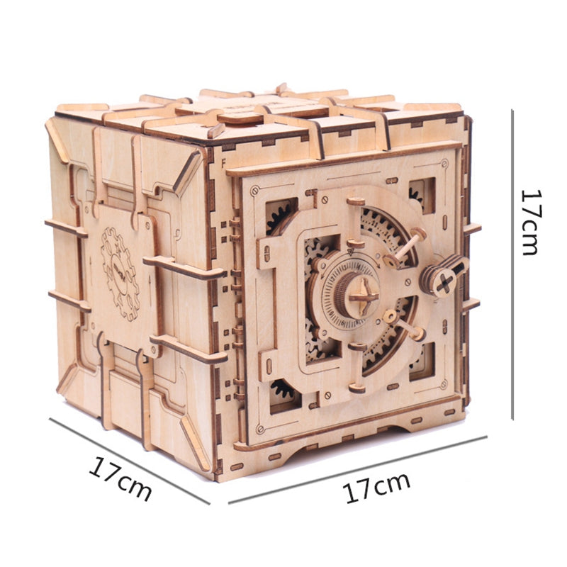 Wooden Puzzles Password Treasure Box