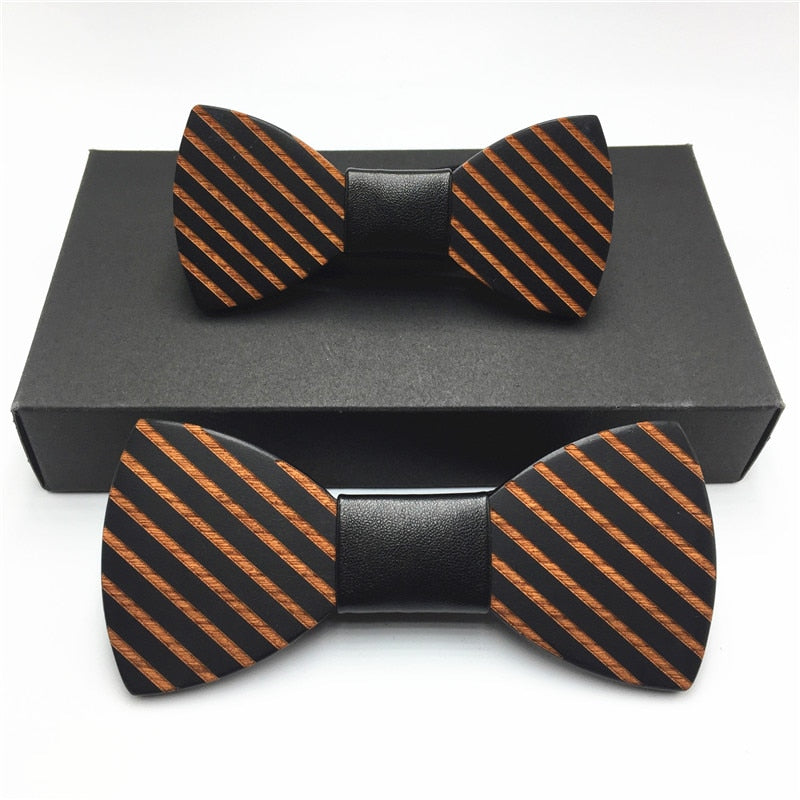 Father & Son Wooden Butterfly Bow Ties Set