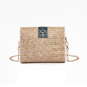 Small Straw Rattan Handbag