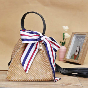 Canvas Straw Purse