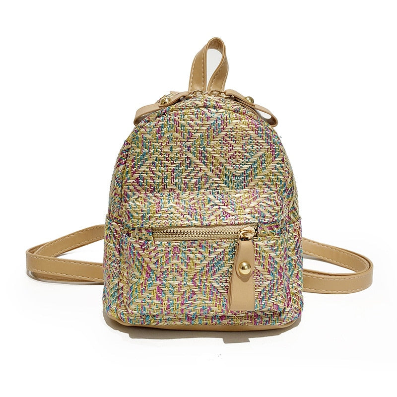 Multi-Purpose  Grass Woven Backpack in 5 colors